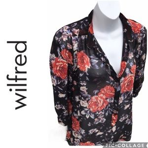 Wilfred 100% Silk Floral Blouse